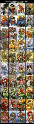 Sketch cards: DC New 52 by Axigan