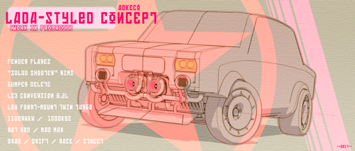 Lada-styled Concept Car by aconnoll