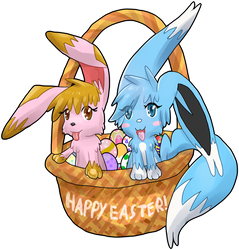 Happy Easter! : Cute Fluffy Easter Basket by Lohlite