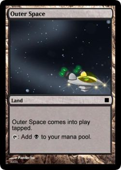 Outer Space Realm Magic-Card by Captain-Pyro