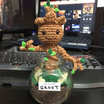 Baby Groot Amigurumi by hollowtemptation