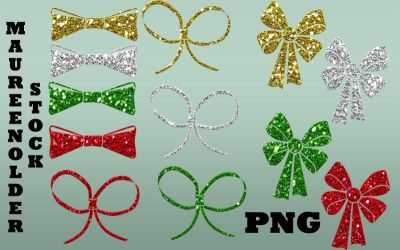 STOCK PNG bows by MaureenOlder
