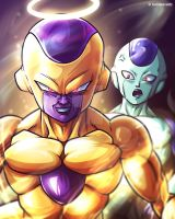 Frieza x Frost Fan Art [Dragon Ball Super] by TomislavArtz