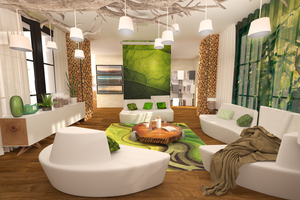 Green livingroom by ArtAndJoy