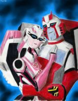Rachet and Arcee by Taipu556