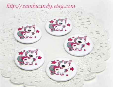 Unicorn buttons by zambicandy