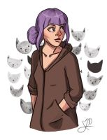 walking with cats by JaiGuruSun