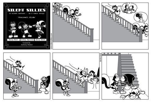 Silent Sillies - Stairwell Slide by JK-Antwon