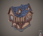 Low poly house by AntonioNeves