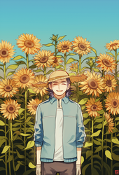 [OC] Sunflower by Kur0-sakura
