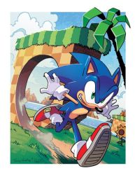 Sonic the Hedgehog (Coloring Commission) by herms85
