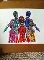 Sentai knight main team by buddyfrank