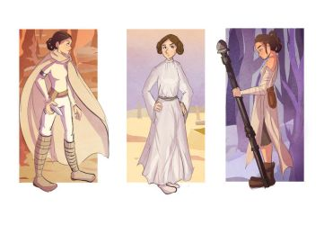Generations of Star Wars Heroines by Paulycat