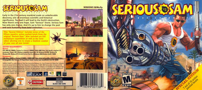 Serious Sam: Special Edition - Jewel Case Insert by FrameRater