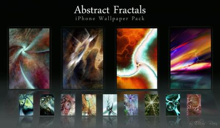Abstract Fractals iPhone Walls by misterxz