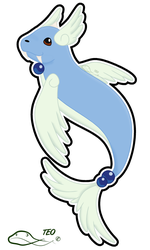 Pokemon Fusion - Dewgonair by The-Emerald-Otter