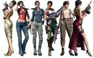 The ladies of Resident Evil by pisceslilly198524