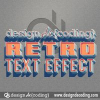 Classic Vintage Retro Text Effect by designdecoding