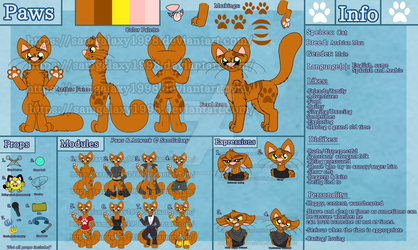 Paws's updated ref sheet by SamGalaxy1998