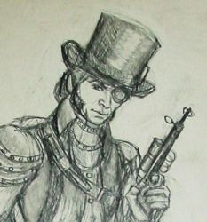 Steampunk Javert,  Closer by CorvidAngel