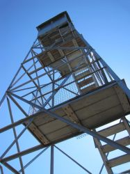 Tower on top of Mount Arab, NY by Lectrichead