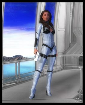 Cindy Crawford - Sci-Fi by celticarchie