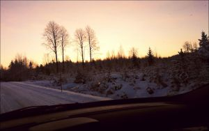 Evening View From A Car On December 29   by eskile