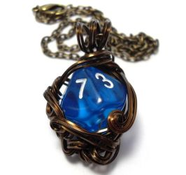 D10 Die Necklace by sojourncuriosities