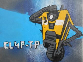 Claptrap Stencil Painting. by Blackitt
