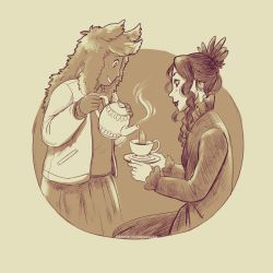 Witches Tea Time by Maarika