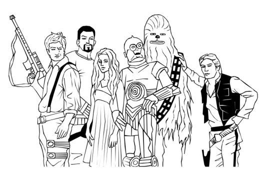 Firefly Star Wars - Lineart by HappInesFactory