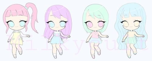 Pastel Adoptables (4/4 OPEN) by milkycult