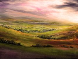 Painting: Derbyshire Light by AnnMarieBone