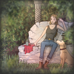In the garden by Rock-well