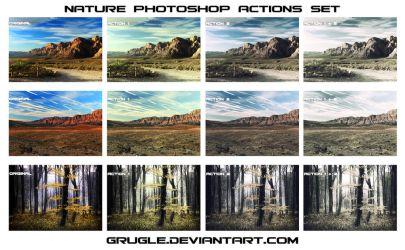 Nature Photoshop Actions Set by Grugle
