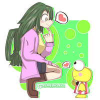 Tsuyu and Keroppi by GABRIELNGAKO