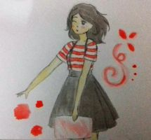First test with Watercolor by Beatrixes