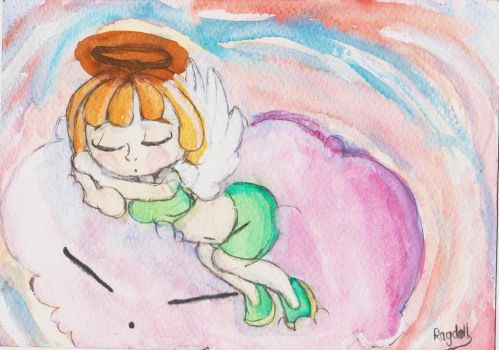 Sleeping angel by A-Rag-Doll