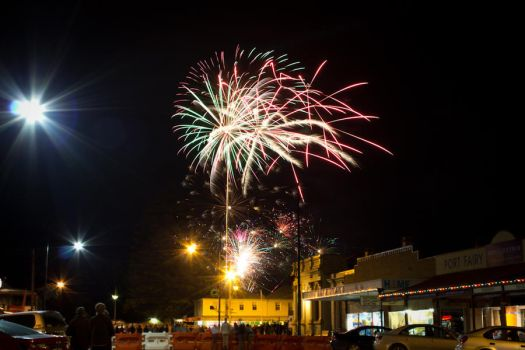 NYE Fireworks - Port Fairy 2012 / 2013 by theartofsin