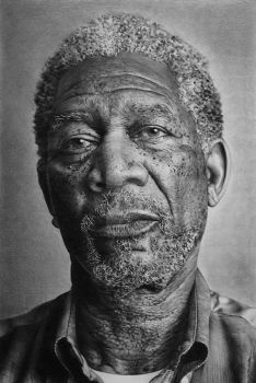 Morgan Freeman by AlexFleming