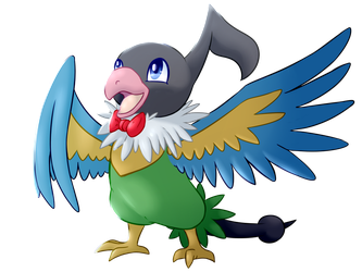 Chatot - Commission by superrandomstuff