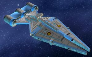 Arquitens Light Cruiser by StarToursTraveler