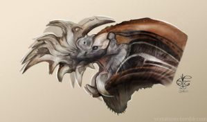 Greater Razor Jaw dragon by Vincent-Covielloart