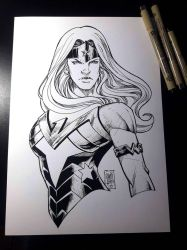 Wonder Woman - INKTOBER 2018 by MARCIOABREU7