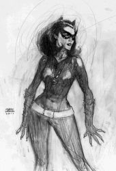 cat woman by Andrew-Robinson