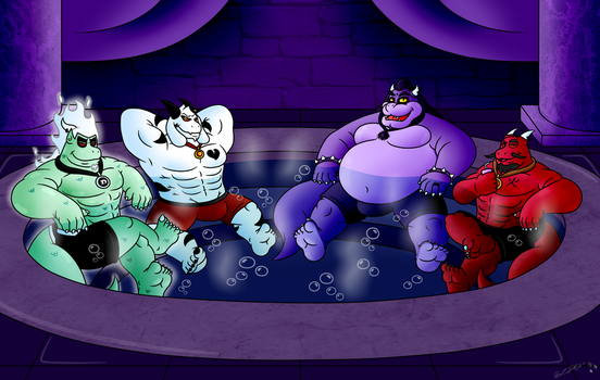 Evil Hot Tub Time by StarLightDragon64