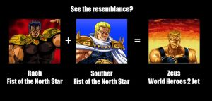 Raoh, Souther, and Zeus by MDTartist83