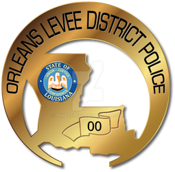 Orleans Levee District Police Badge by tempest790