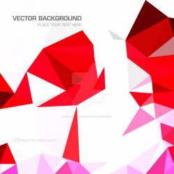 Red Low Poly Background Free Vector by 123freevectors