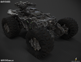 THOMAS WAYNE BATMOBILE ( RENDER ) by pauldavemalla